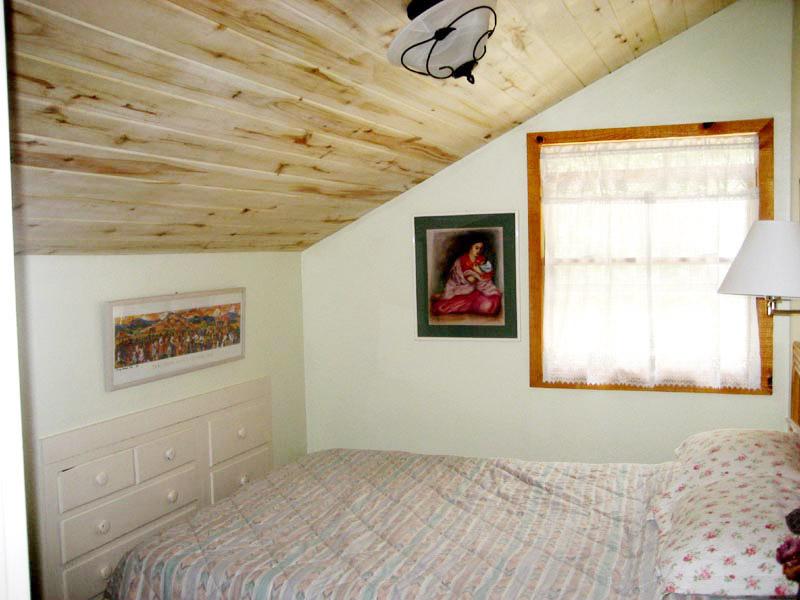 Edelweiis Cabin Master Bedroom Upstairs