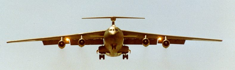 C-141B on Short Final for Runway 13, Diego Garcia 1987