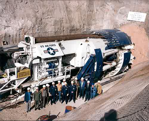 U.S. Air Force Tunnel Boring Machine