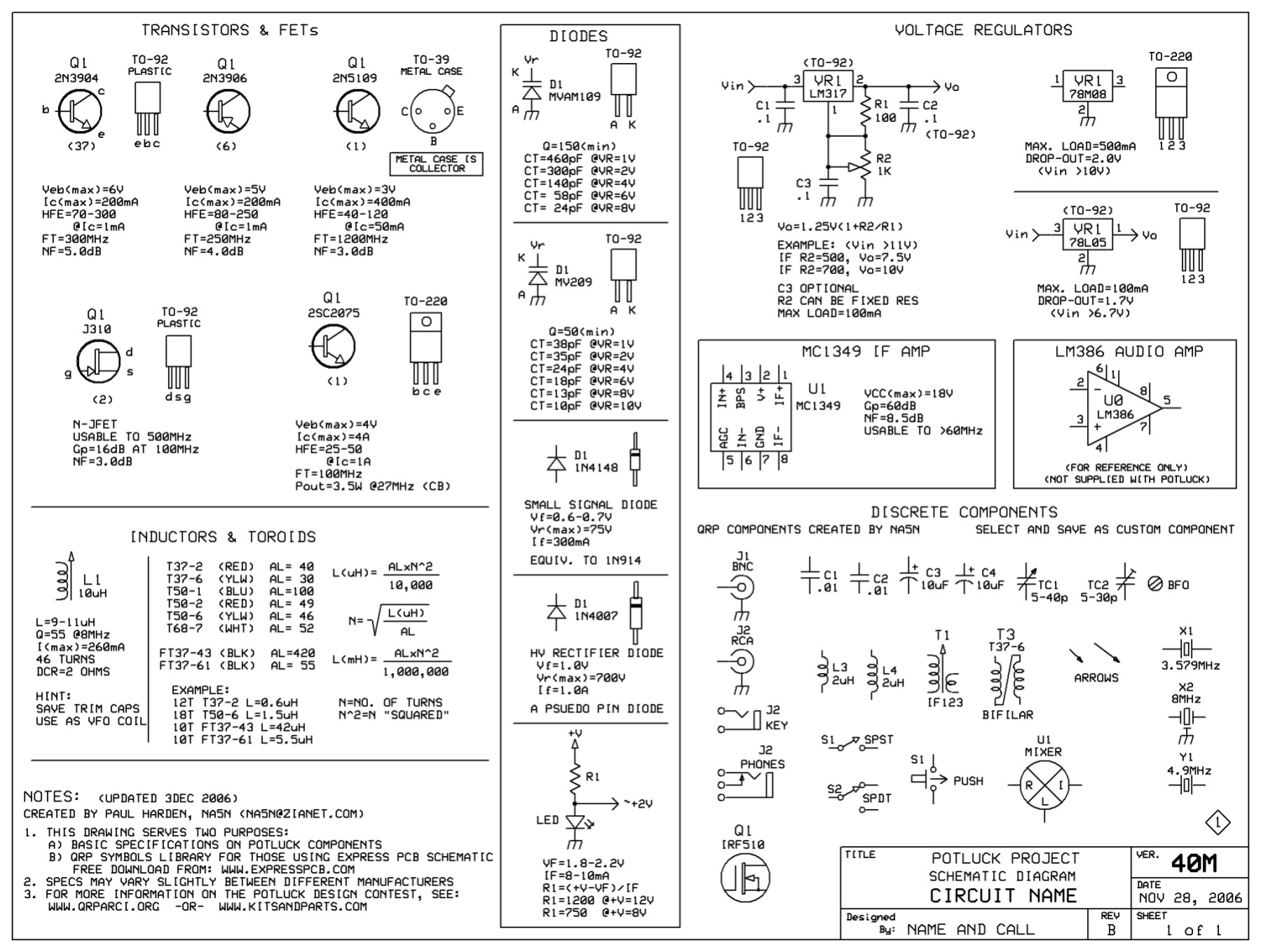 Work1 Circuit Components Symbols Click On Drawing To Enlarge